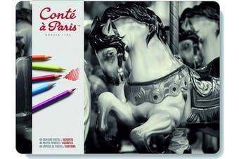 Conté à Paris Pastel Pencils with 48 Assorted Colours