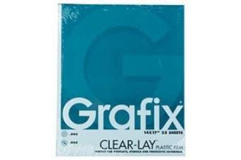 Grafix Clear-Lay Acetate Alternative 0.01cm . 28cm . x 36cm . pad of 25