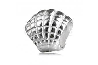 925 Sterling Silver charm Freedom Sea Shell Bead Fits Pandora, Biagi, Troll, Chamilla and Many Other European Charm #EC224