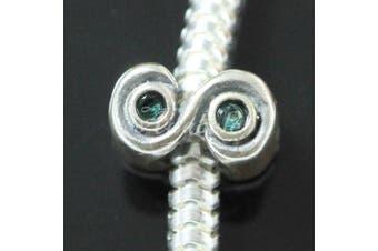 Sterling Silver December Birthstone Charm Bead Blue  .   Crystal Fits Pandora Biagi Troll Chamilla Charm Bracelet EC421