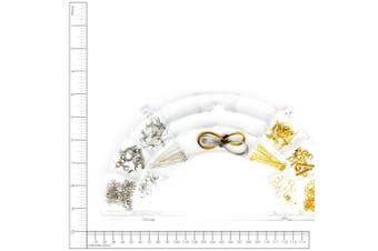 (1, Silver) - Cousin Precious Accents Jewellery Findings Collection 158/Pkg, Silver and Gold