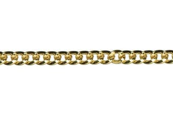 Cousin Jewellery Basics 32-Inch/81.3cm Small Flat Chain, Gold