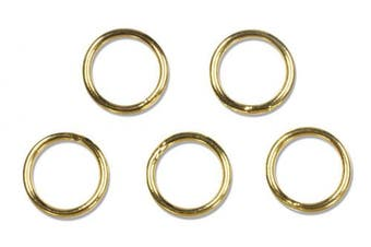 Cousin Gold Elegance 14K Gold Plate Closed Jump Ring, 16-Piece, 6mm