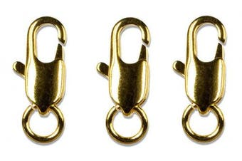 Cousin Gold Elegance 14K Gold Plate Lobster Claw, 3-Piece, 7.6cm by 20cm