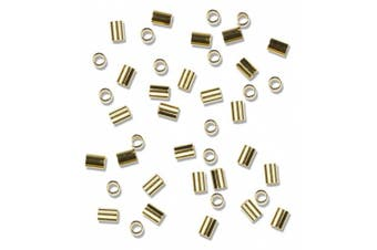Cousin Gold Elegance 14K Gold Plate Crimp Tube, 38-Piece, 5.1cm by 7.6cm