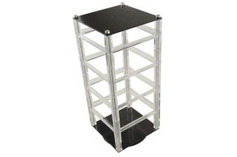 (1, black and clear) - Revolving Earring Card Display Stand Jewellery