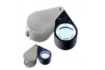 10x21mm Uv/led Triplet Illuminated Loupe-dual Light (White & Uv) Magnifier Loupe