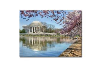 (70cm  x 80cm ) - Trademark Art CATeyes Jefferson Memorial Canvas Art