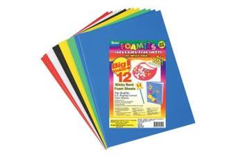Sticky Back Foam Sheets 23cm x 30cm 12/Pkg