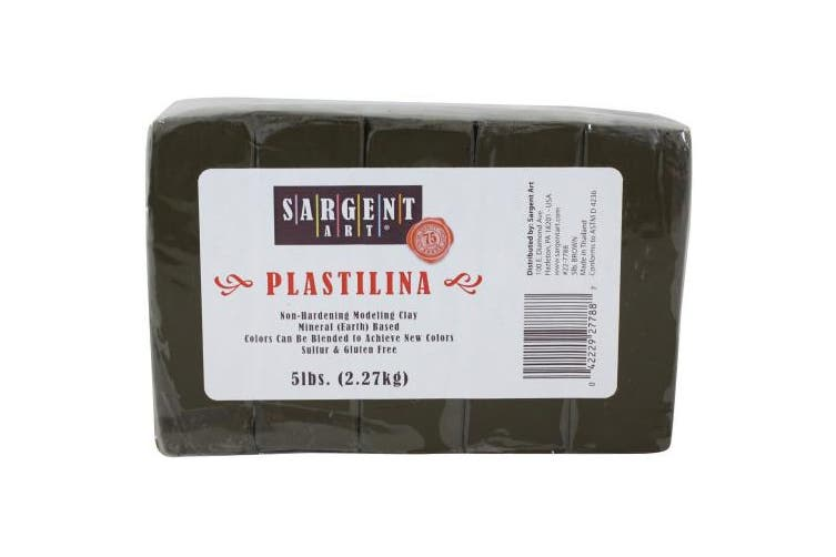 Sargent Art Plastilina Modelling Clay, 5-Pound, Brown