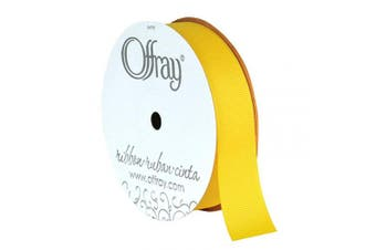 (Maize) - Berwick Offray 2.2cm Grosgrain Ribbon, Maize Yellow, 20 Yards