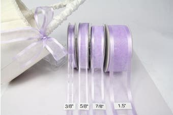 (Lavender) - Lavender Organza Ribbon with Satin Edge-25 Yards X 1.6cm