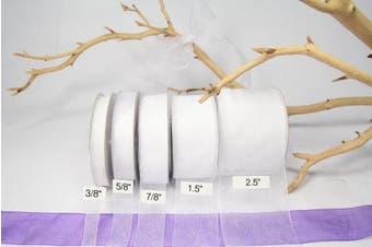 White Organza Sheer Ribbon-25 Yards X 3.8cm