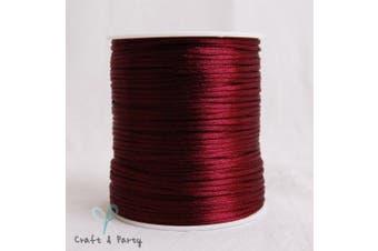 (WINE) - 2mm x 100 yards Rattail Satin Nylon Trim Cord Chinese Knot