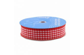 Berwick Wired Edge Picnic Craft Ribbon, 3.8cm by 50-Yard Spool, Red