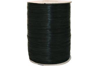 (100 yards, Black) - Morex Ribbon Rayon Raffia Fabric Spool, 100 yd, Black
