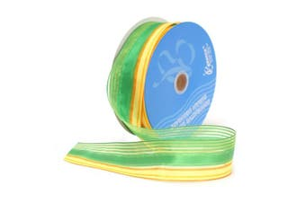 Berwick Wired Edge Springs Craft Ribbon, 3.8cm Wide by 50-Yard Spool, Emerald
