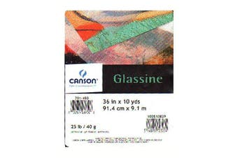 (90cm X10yds) - Canson Glassine Art Paper Roll for Use as Slip Sheet to Protect Artwork, 11kg, 90cm x 10 Yard Roll