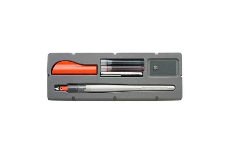 (2.4mm Nib) - Pilot Parallel Pen 2-Colour Calligraphy Pen Set, with Red and Blue Ink Cartridges, 2.4mm Nib