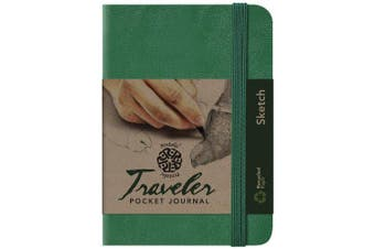 (10cm  x 15cm , Green, Sketch/Blank) - Pentalic Sketch Traveller Pocket Journal, 15cm x 10cm , Green