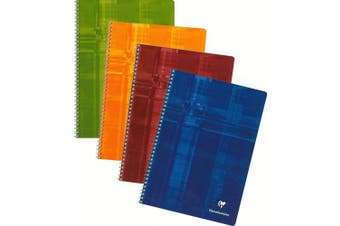 (29.70 x 23.50 x 0.60, Mixed Colours) - Clairefontaine Classic Wirebound Notebooks 21cm . x 30cm . ruled with margin 50 sheets