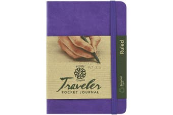 (10cm  x 15cm , Violet, Ruled) - C2F Pentalic Ruled Traveller Pocket Journal