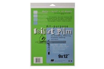 (23cm  x 30cm , 12 Sheets, Matte) - Grafix All Purpose Low Tack Frisket Matte Film 23cm -by-30cm , Pack of 12