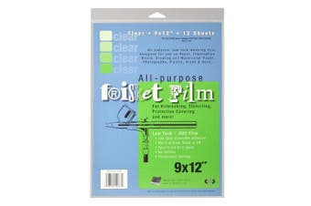 (23cm  x 30cm , 12 Sheets, Clear) - Grafix KLC91212N All Purpose Low Tack Frisket Film 23cm -by-30cm , Clear Pack of 12