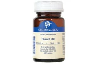 Grumbacher 566-2 60ml Stand Oil Artists Oil Medium Jar