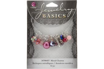 Cousin Jewellery Basics 12-Piece Glass/Metal Bead Cluster Purple