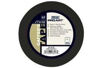 (Black) - Pro Art 5.1cm by 30-Yards Gaffers Tape