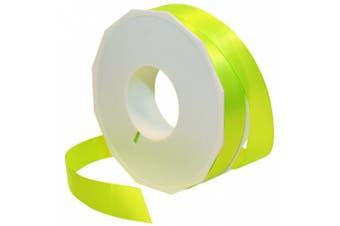 Morex Ribbon Neon Brights Satin, 2.2cm by 50-yard, Neon Citrus