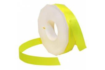 Morex Ribbon Neon Brights Satin, 2.2cm by 50-yard, Neon Yellow