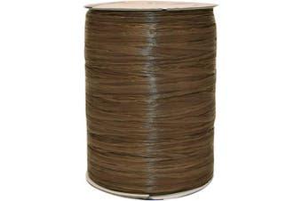 (100 yards, Chocolate) - Morex Ribbon Rayon Raffia Fabric Ribbon Spool, 100-Yard, Chocolate