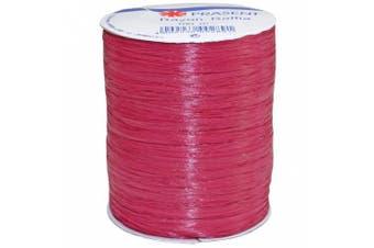 (100 yards, Bordeaux) - Morex Ribbon Rayon Raffia Fabric Ribbon Spool, 100-Yard, Wine
