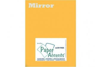 Accent Design Paper Accents ADP8511-25.808 Adpapermirror8.5x11Gold Cdstk Mirror 8.5x11 13Pt Gold