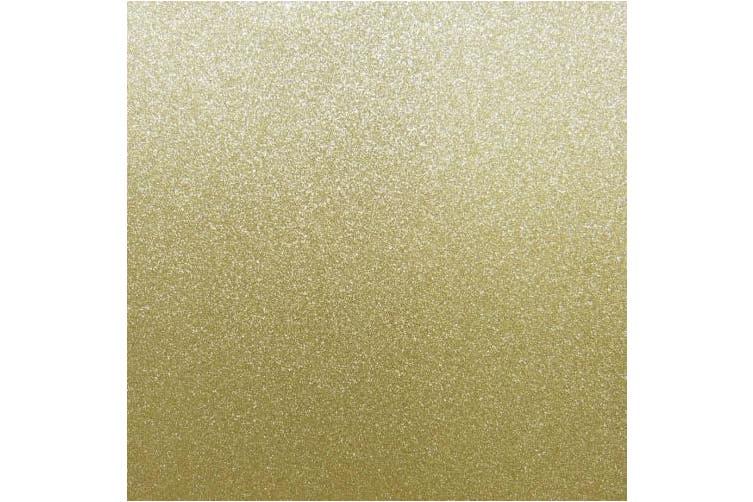 Best Creation 30cm x 30cm . Cardstock Glitter Bright Gold (15 sheets)
