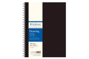(cream, 23cm .x 12in.pad) - Strathmore 400 Series Art Drawing Journal, 23cm x 30cm Wire Bound, Cream, 50 Sheets