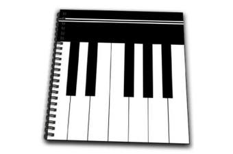 (8x8 drawing book) - InspirationzStore Music Art Designs - Piano keys - black and white keyboard musical design - pianist music player and musician gifts - Drawing Book