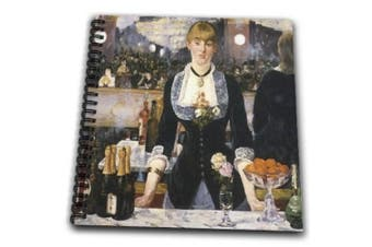(8x8 drawing book) - BLN Impressionist Fine Art Collection - A Bar at the Folies-Bergere by Edouard Manet - Drawing Book