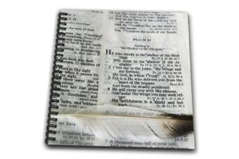 (8x8 drawing book) - . images Designs Graphic Design Bible Verse - Photograph of a bible open to Psalm 91 and marked with a large feather. - Drawing Book