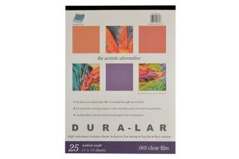 Grafix Clear .003 Dura-Lar Film, 28cm by 36cm , 25 Sheets