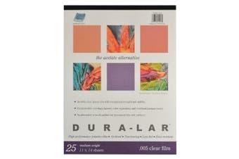 Grafix Clear .005 Dura-Lar Film, 28cm by 36cm , 25 Sheets