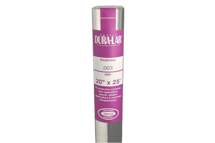 Grafix Clear 0.003 Dura-Lar Film Roll, 50cm by 60cm