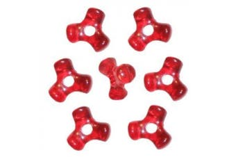 Christmas Red Tri-Shaped Beads (1,000 Beads)