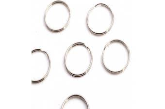 "50x Thin Round Key Ring 24mm 1"" Split Ring Keychain Finding DIY Tool"