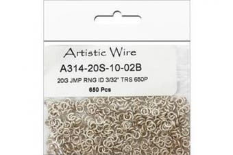 Artistic Wire, 20 Gauge Jump Ring, Diameter 0.2cm , Tarnish Resistant Silver, 650-Piece
