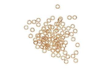 Beadaholique 100-Piece Open Jump Rings, 3mm, 22-Gauge, 22K Gold