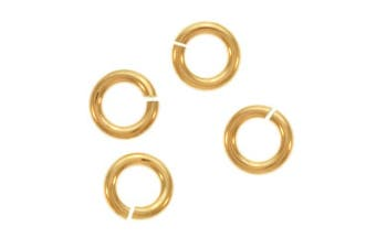 Beadaholique 10-Piece Filled Jump Lock Rings, 4mm, 20-Gauge, Gold