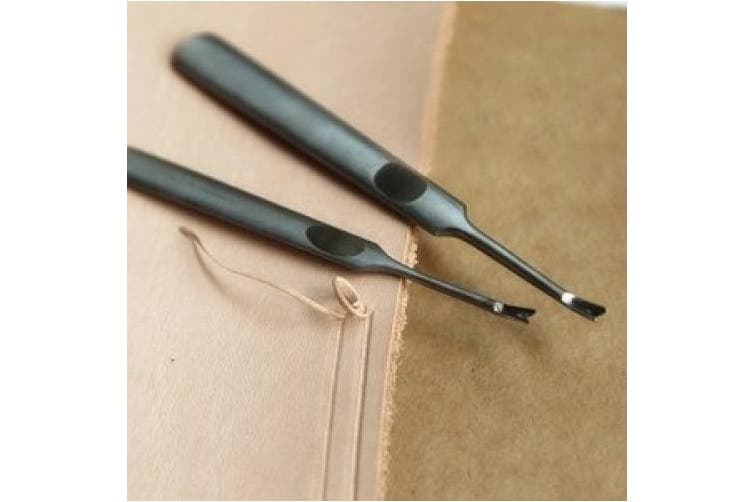 OnceAll 2Pcs Hand Working DIY Leathercraft Leather Edge Skiving Tool Craft Tool